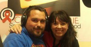 Breifney Earley and I at Charity Radio Dublin