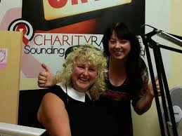 Teena Gates and I at Charity Radio